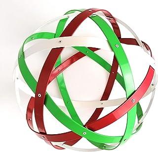 Pentasfera (genesa 6 cerchi), Purificatore energia, 32 cm diametro, Verde, bianco e rosso