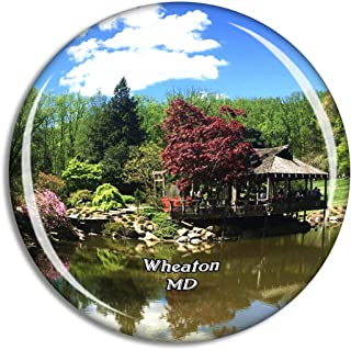 Wheaton Brookside Gardens Maryland USA Magnet Travel Souvenir 3D Crystal Glass Collection Gift Refrigerator Sticker