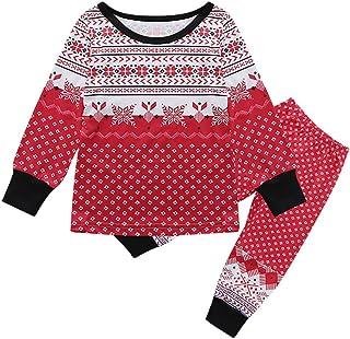 b621fa3e55 Christmas Pajamas Set Family Matching Christmas Snowflake Print Pajamas  Homewear Xmas Outfits Set Sleepwear Nightwear