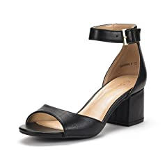 a7d8b7001eb DREAM PAIRS Women s Chunkle Low Heel Pump Sandals Ankle Strap .