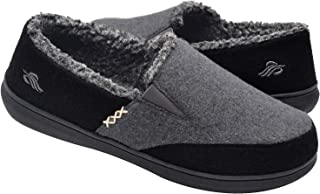 Men's Fuzzy Microsuede Moccasin Home Slippers Fluffy...