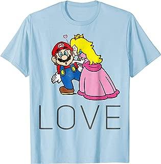 Princess Peach Kiss Love Graphic T-Shirt
