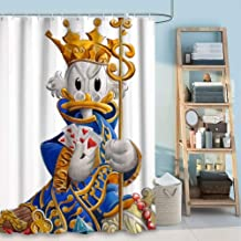 DISNEY COLLECTION Shower Curtain Crowned Donald Duck Bathroom Shower Curtains with Hooks 72 Inch72 Inch