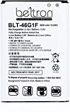 New 2800 mAh BELTRON Replacement Battery for LG LV5/K20 Plus (Comptible With: MetroPCS MP260, T-Mobile TP260, Verizon Wireless VS501) BL-46G1F