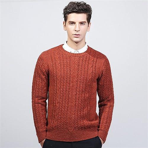 Jdfosvm la Mode Hiver Pull col, Le Cou en Pull, Jeune Fil Pull,Orange,XL