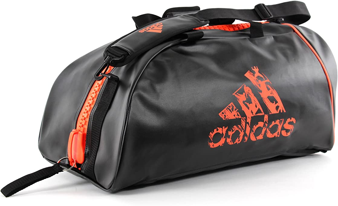 Adidas ADIACC051O-LARGE Sports Bag 2 in 1 - Black/Orange - Large