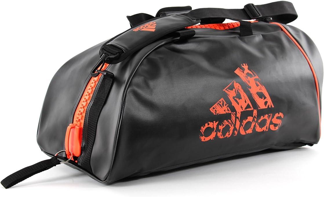 Adidas ADIACC051O-LARGE Sports Bag 2 in 1 - Black/Orange - Large
