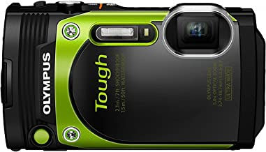 Olympus TG-870 Tough 16MP Waterproof Digital Camera with 5X Optical Zoom, FHD 1080P Video, Tilting LCD, Built-in Wi-Fi & GPS (Green)