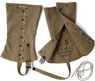 WWII WW2 US Army USMC Military Uniform Accessories canvas Leggings Replica