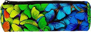 Federmappe mit Regenbogen-Schmetterlingen, Stift- und Reißverschluss-Tasche, Münzorganizer, Schreibwaren-Tasche, Make-up-T...