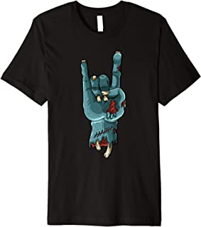 Zombie Hand Funny Halloween Rocker Rock Easy Cosplay Costume Premium T-Shirt