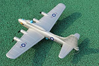 Super Large 28 inch Fixed Wing Remote Control Aircraft B-17 Aerial Fortress Bomber Gliding Glide Drone Aircraft Model Children 4 Propeller Driving Electric Toy (Random Color)