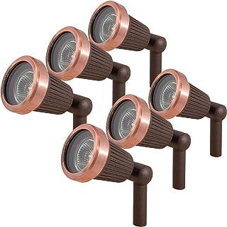 Paradise Low Voltage Cast Aluminum 20W Spotlight (Copper, 6 Pack)