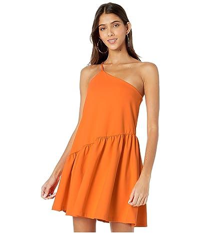 Susana Monaco One Shoulder Gather Flare Dress (Popsicle) Women