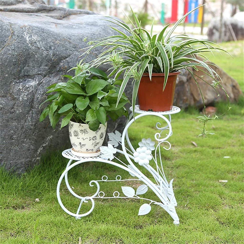 Plant Flower Pot Iron Stands Home Garden Patio Decor Display Stand Bonsai Holder