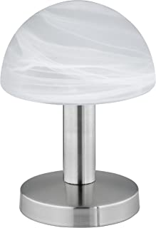 """Trio-Leuchten 599000107 Lampe de table en Nickel Mat, Fonction """"touch-me"""" (Interrupteur à 4 positions, 3 niveaux de lumino..."""