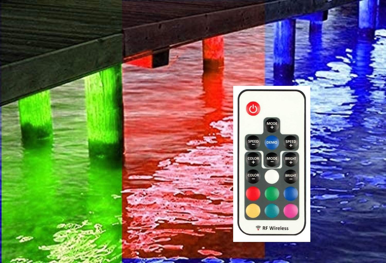 Multi Color Pimp My Dock Led Lights Diy Premium 15 000 Lumen Led Under Dock Lighting Kit Smd5630 Ip68 Completely Waterproof Multi Color Amazon Com