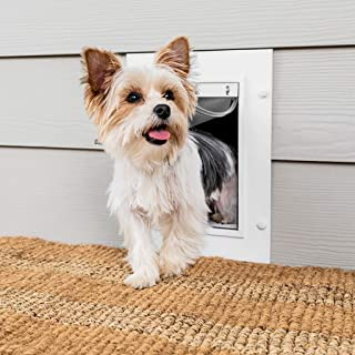 PetSafe Wall Entry Pet Door for Dogs and Cats with Telescoping Tunnel – Small,..