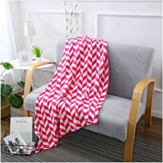 Cable Knit Throw Blanket,5 Color,Pure Cotton Leaf Patten Super Soft Warm Knitted Blanket for Couch Sofa Bed Decorative,43×71In,Red