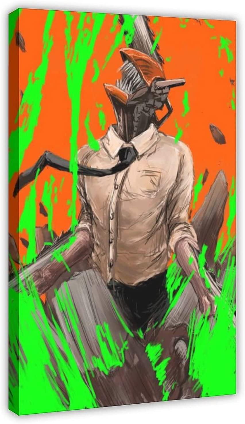 Anime Chainsaw Man 5 Canvas Popular standard Poster Print Max 83% OFF Wall Picture Decor Art