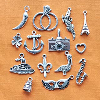 Extensive Collection of Charm Cake Pull Charm Collection Antique Silver Tone 14 Charms - COL110 Express Yourself