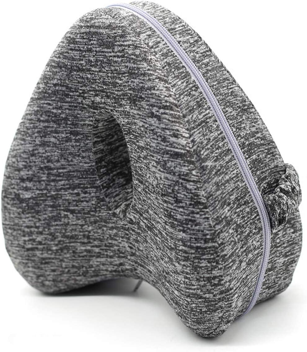 FANDARE Almohadas para piernas Almohada ortopédica Espuma con Memoria Leg Pillow Hombre Mujer para posicionamiento de piernas,Espalda,Cadera, Rodilla,Alivio de la presión de los Nervios ciáticos Gris