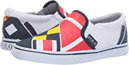 Red/Navy/Yellow/White Sail Print/White Canvas