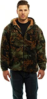 TrailCrest Men's Sherpa Lined Camo Hooded Hunting Jacket
