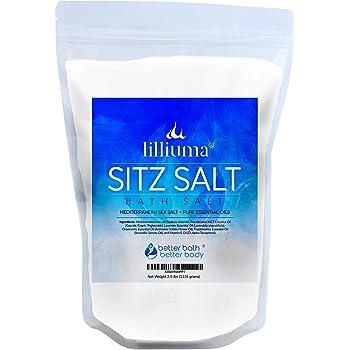 Sitz Bath Salt 40 Ounces Mediterranean Sea Salt with Lavender, Chamomile, and Frankincense Essential Oils, High-Quality Natural Hemorrhoid Sitz Soak