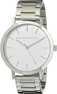 Christian Paul Men CSS4324 Year-Round Analog Quartz Silver Watch