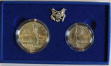 1986 S Liberty 2 Coin Commemorative Coin Set Uncirculated