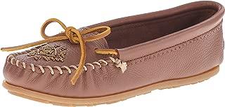 Minnetonka Women's Deerskin Beaded Moccasin Loafers Shoes