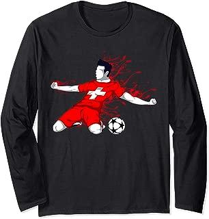 Switzerland National Soccer Team Jersey Swiss Football Lover Long Sleeve T-Shirt