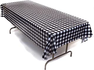 Best black checkered tablecloth plastic Reviews