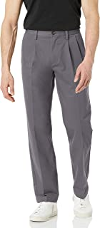 Amazon Essentials Classic-Fit Wrinkle-Resistant Pleated Chino Pant Pantaloni