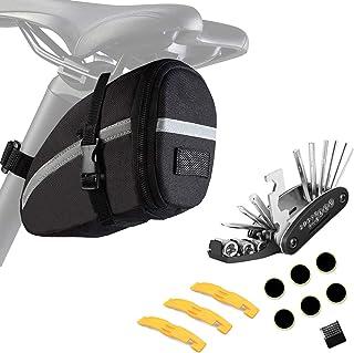 comprar comparacion ZOSEN - Bolsa para sillín de bicicleta con kit de herramientas de reparación, impermeable, bolsa de almacenamiento de herr...