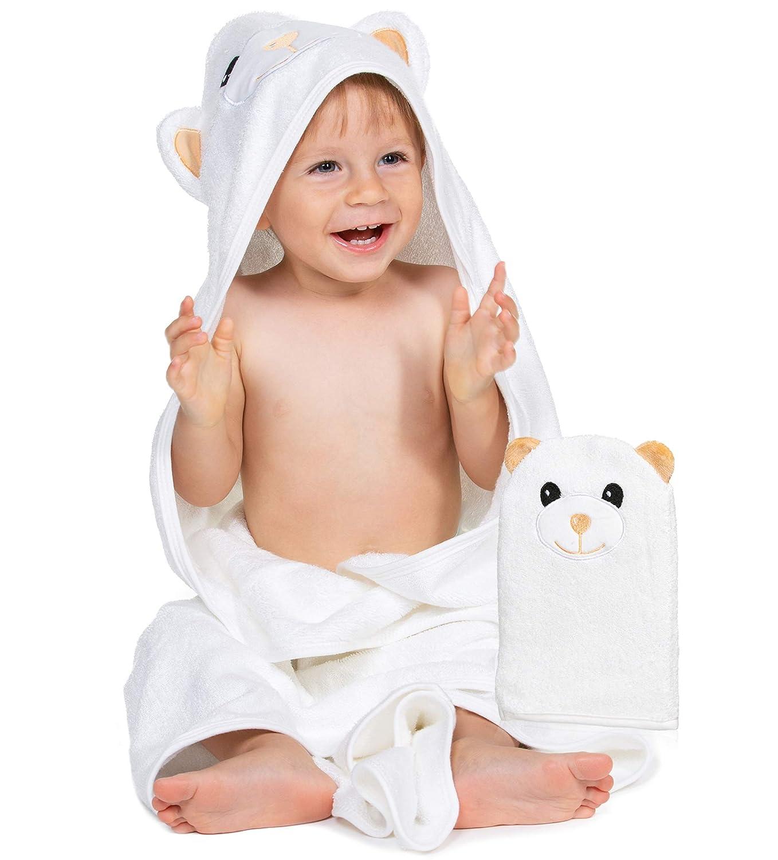 Organic Bamboo Baby Towel Wash Mitt Hooded Towe – Chicago Mall Max 46% OFF Newborn
