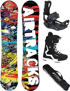 AIRTRACKS–Juego Completo/Tarjeta Graffiti Wide Flat Rocker + Fijaciones Snowboard Star + Snowboard + Botas Bag/155159163cm