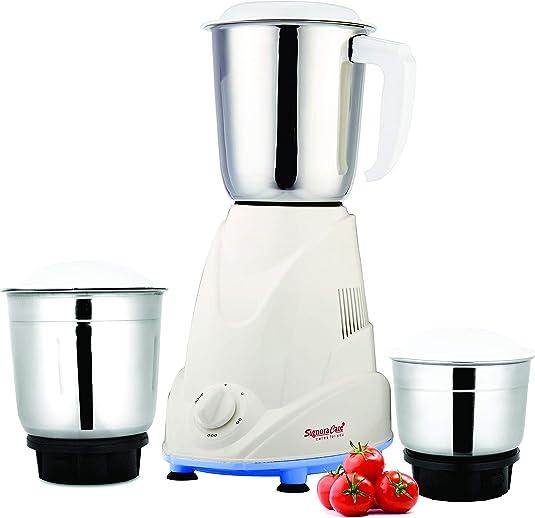 Signora Care Eco Plus Mixer Grinder, 500W, 3 Jars (White)