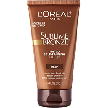 Self Tanner, L'Oreal Paris Sublime Bronze Tinted Self-Tanning Lotion Deep Natural Tan 5 fl. oz.