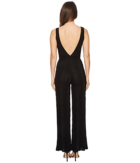 M Missoni Solid Knit V-Neck Jumpsuit Black Sale Reliable Popular And Cheap Marketable Online fD5vYePgcy