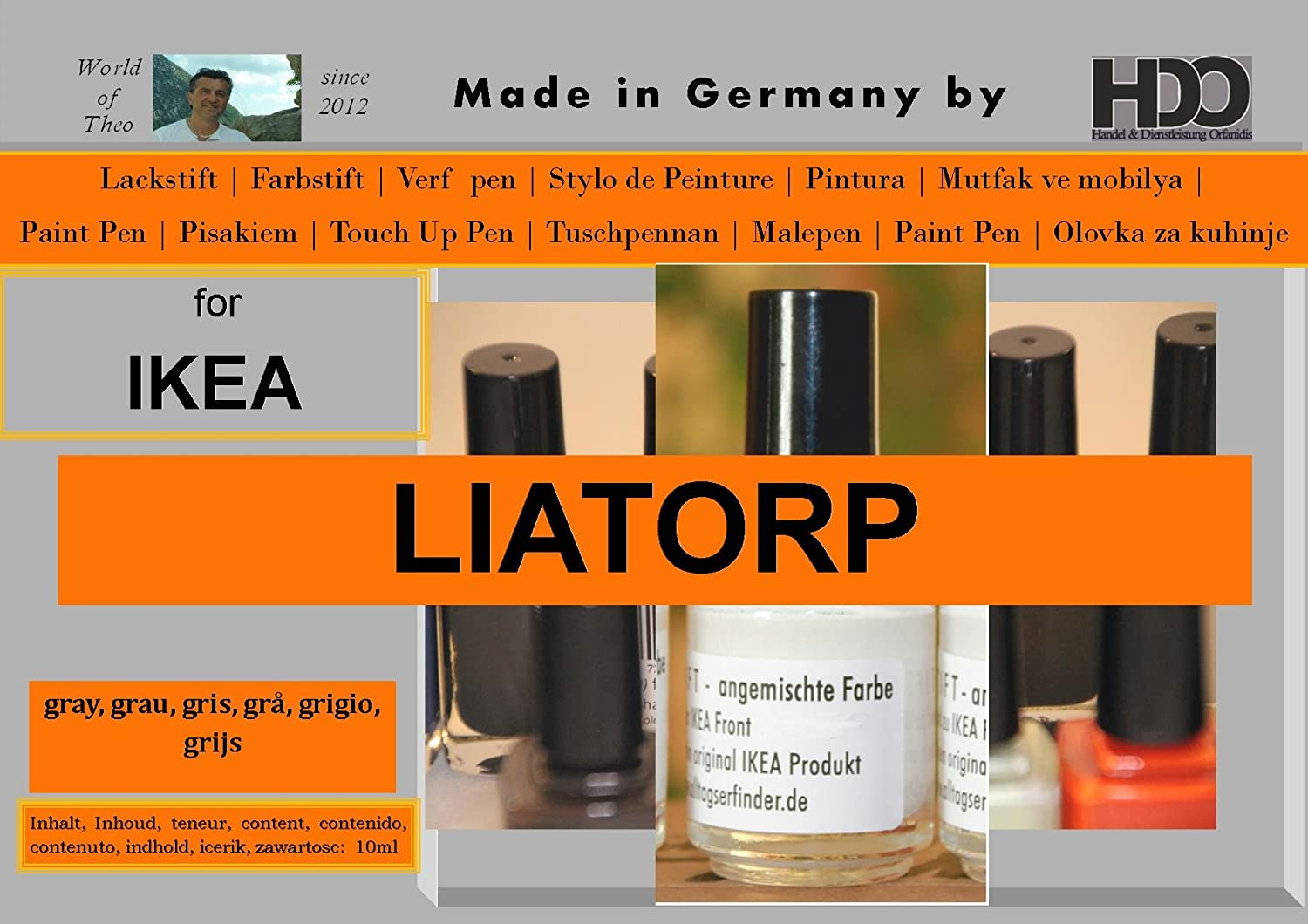 Q-Pen HDO Touch Up Paint for gris Max 72% OFF IKEA Liatorp Max 67% OFF grey gray