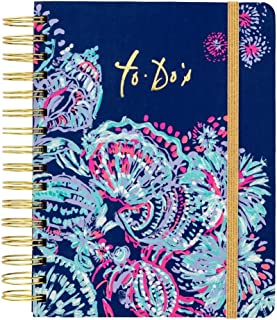 """Lilly Pulitzer Women`s Hardcover Undated To Do Planner, 6.5"""" x 8.5"""", Gypsea Girl, Blue"""