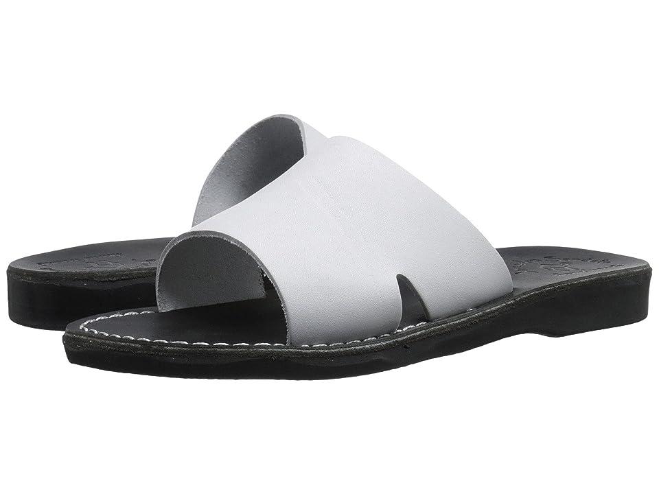 Jerusalem Sandals Bashan Mens (Black/White) Men