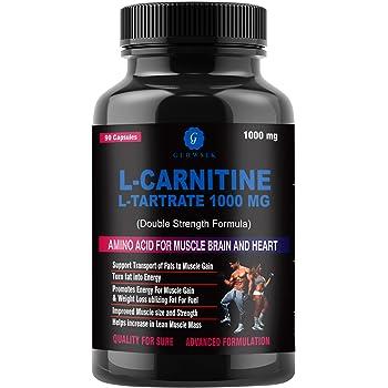 G-GLOWSIK L-Carnitine L- Tartrate 1000 mg weight loss fat burner supplements - 90 capsules