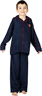 DC Comics Superman Superhero Logo Cozy Coat Front Pajama Set