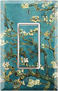 Graphics Wallplates - Almond Branches in Bloom by Van Gogh - Single Rocker/GFCI Outlet Wall Plate Cover