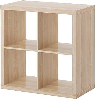 IKEA kallax librería estantería, Efecto Roble con Fuerza Blanco 77x 77cm