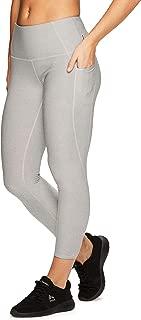 Active Women's Athletic Gym Workout Yoga Capri Length Legging Mesh