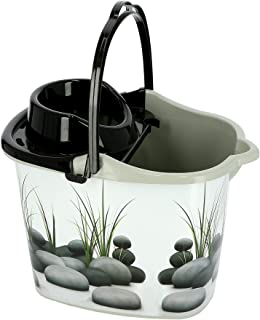 Royalford Mop Plastic with Handle Bucket -Assorted colors